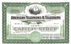 American Telephone and Telegraph Stock Certificate