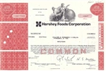 Hershey Foods Corp. Stock Certificate - Red