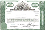 Studebaker Corporation Stock Certificate