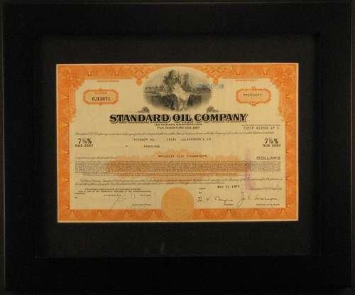 Standard Oil Company Stock Certificate