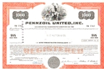 Pennzoil United, Inc. Stock Certificate
