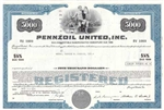 Pennzoil United, Inc. Bond Certificate $5000