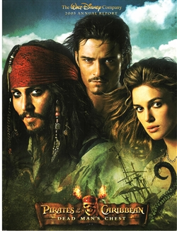 2005 Walt Disney Company Annual Report - Pirates of the Caribbean Cover