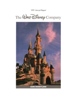 1991 Walt Disney Company Annual Report - Euro Disneyland Cover