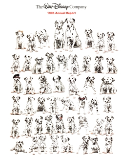 1996 Walt Disney Company Annual Report - 101 Dalmations Cover