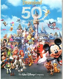 2004 Walt Disney Company Annual Report – 50 Years Disneyland Cover