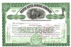 North Butte Mining Company Stock Certificate