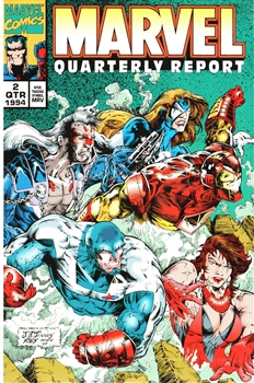 Framed 1994 2nd Quarter Marvel Report – Ironman and Friends