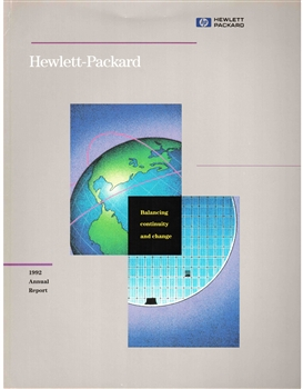 1992 Hewlett-Packard Annual Stock Report