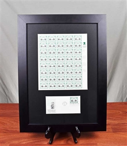 NYSE 200th Bicentennial Anniversary Stamps Framed Display