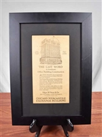 1928 Chicago Mercantile Exchange Building Advertisement