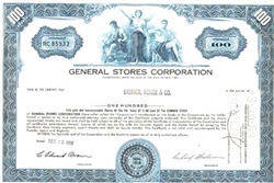 General Stores Corporation Stock Certificate