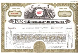 Fairchild Engine and Airplane Corporation Stock Certificate