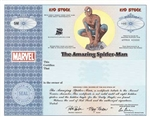 Rare Spider-Man Kid Stock Certificate - Marvel