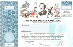 The Walt Disney Company Stock Certificate