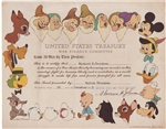 The Walt Disney Company War Bond - 1944 Issued