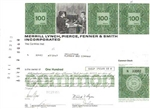 Merrill Lynch, Pierce, Fenner, and Smith, Inc. Stock Certificate