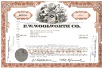 F.W. Woolworth Company Stock Certificate