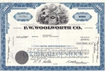 F.W. Woolworth Company Stock Certificate - Blue