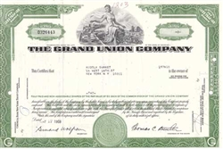 The Grand Union Company Stock Certificate - Green