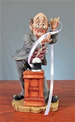 Ceramic Lefton Stock Broker Figurine