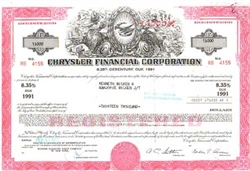 Chrysler Financial Corporation Bond Certificate