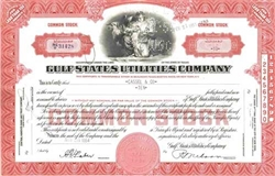 Gulf States Utilities Company Stock Certificate- Red