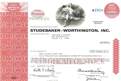 Studebaker-Worthington Stock Certificate – Red