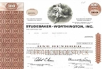 Studebaker-Worthington Stock Certificate – Brown
