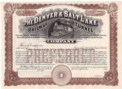 The Denver & Salt Lake Railway Tunnel