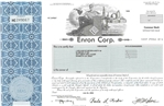 Enron Corp. Stock Certificate