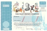 The Walt Disney Company Specimen Stock Certificate