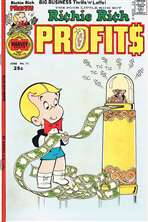 1976 Richie Rich Profits Comic Book with Ticker Machine Cover