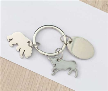 Bull and Bear Key Chain with Gift Box