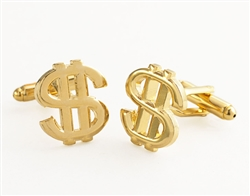Gold Money Money Money Cufflinks