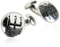 Sterling Silver Gearshift Cufflinks