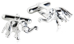 Sterling Silver Elephant Cufflinks