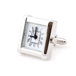 Silver Watch Cufflinks