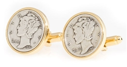 Mercury Dime Cufflinks