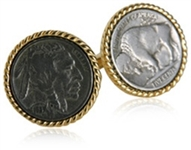 Vintage Buffalo Coin Cufflinks