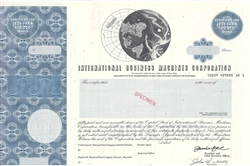 IBM International Business Machines Specimen Stock Certificate
