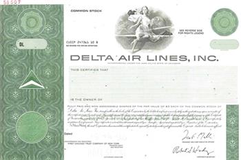 Delta Air Lines Specimen Stock Certificate