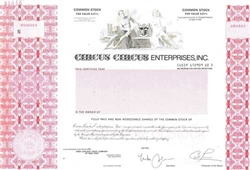 Circus Circus Entertainment, Inc.  Specimen Stock Certificate