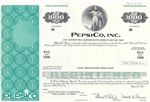 Pepsi Co Inc. Specimen Bond Certificate - 1975