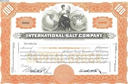 International Salt Company Specimen Stock Certificate