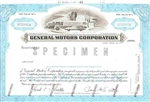 General Motors Corp. Specimen Stock Certificate