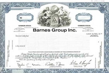 Barnes Group Inc. Specimen Stock Certificate