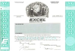 Excel Communications, Inc. Specimen Stock Certificate