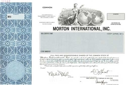 Morton International, Inc. Specimen Stock Certificate