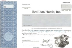 Red Lion Hotels, Inc. Specimen Stock Certificate